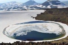 火山口湖山 图库摄影