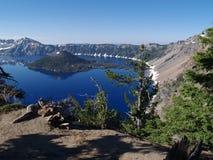 火山口湖 库存图片