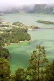 火山口湖 库存照片