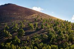 火山口纪念碑国民日落 库存图片