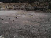 火山口discoverin火山希腊的nisyros 免版税库存图片