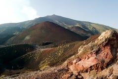 火山口etna silvestri 免版税图库摄影
