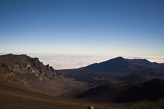 火山口haleakala夏威夷毛伊 库存照片