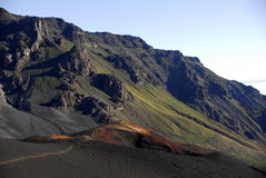 火山口haleakala 图库摄影