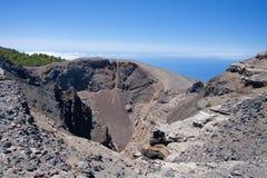 火山口hoya la黑人palma西班牙火山 库存图片