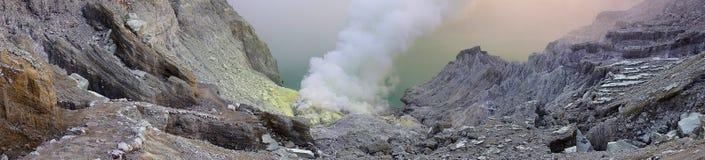 火山口ijen 图库摄影