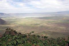 火山口ngorongoro 免版税库存照片