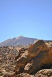 火山向泰德峰 库存图片