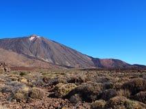 火山和风景在teide国家公园特内里费岛 免版税库存照片