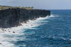 火山国家公园,夏威夷海岸  免版税库存照片