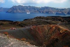 火山圣托里尼 免版税库存图片