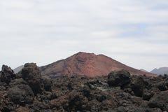 火山在兰萨罗特岛 免版税库存图片