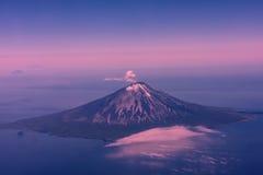 火山在堪察加 库存图片