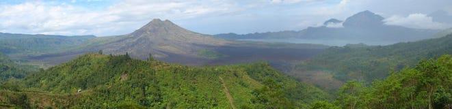 火山在巴厘岛 库存图片