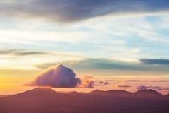 火山在萨尔瓦多 库存照片