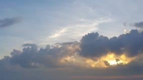 火山天空 库存图片
