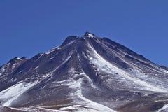 火山山顶 图库摄影
