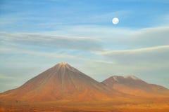 火山山顶 免版税图库摄影