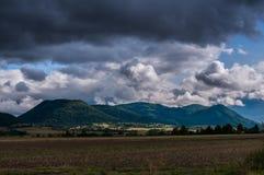 火山山风景 免版税图库摄影