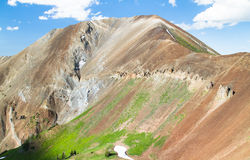 火山岩峰顶在老鹰盖帽原野, NE俄勒冈,美国 免版税库存图片