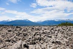火山岩床 免版税库存照片