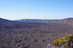 火山岩钉de la fournaise谷 免版税库存照片