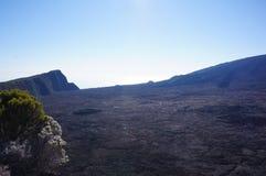 火山岩钉de la fournaise谷 图库摄影