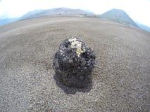 火山岩Mt Bromo 免版税库存图片