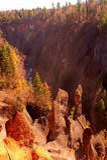 火山峡谷 库存图片