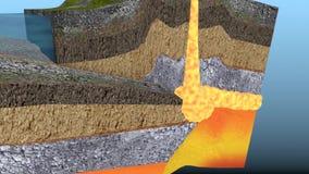 火山形成动画 影视素材