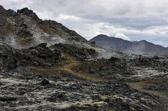 火山有效的裂痕 库存图片