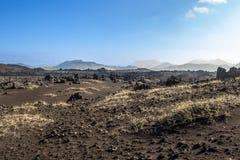 火山沙漠的横向 库存图片