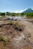 火山泥的罐 库存照片