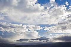 火山泰德峰看法在特内里费岛,西班牙 免版税库存图片