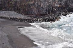 火山海滩特内里费岛 库存图片