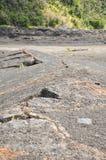 火山火山口岩石裂痕 库存图片