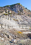 火山火山口的硫质喷气孔 免版税库存照片