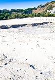火山火山口的硫质喷气孔 免版税图库摄影