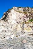 火山火山口的硫质喷气孔 免版税库存图片