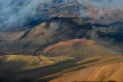 火山火山口 库存图片