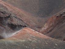 火山火山口etna 免版税库存图片