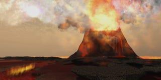 火山火 免版税库存图片