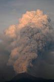 火山爆发损伤补救 库存图片