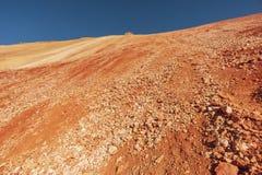 火山的倾斜风景 库存照片