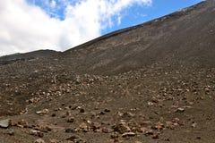 火山的倾斜 库存图片