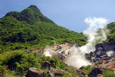 火山的区域 库存照片