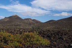火山的小山,兰萨罗特岛 库存照片
