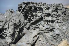 火山的岩石 库存图片