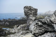 火山的岩石 库存照片