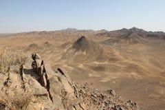 火山的形成在Maranjab离开,伊朗 免版税库存图片